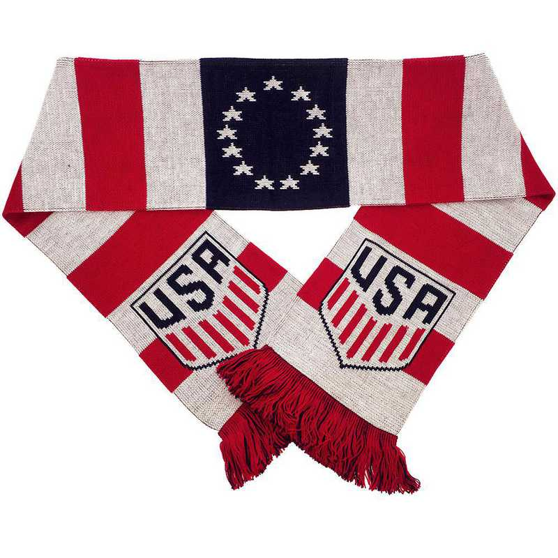 USA-2016-COLO: US Soccer Scarf - Colonial