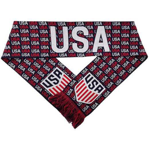 USA-17-HDCREST: US Soccer Scarf - USA Crest (HD Knit)