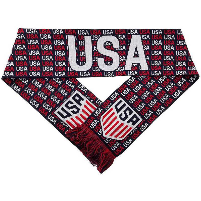 USA-17-HDCREST: US Soccer Scarf - USA Crest (HD Knit)