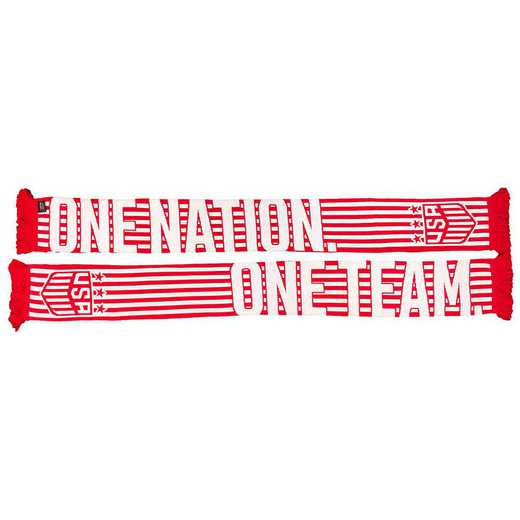 USWNT-19-RWONOT: USWNT Scarf - Red/White One Nation One Team