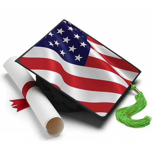 USAFLAG: American Flag Grad Cap Tassel Topper