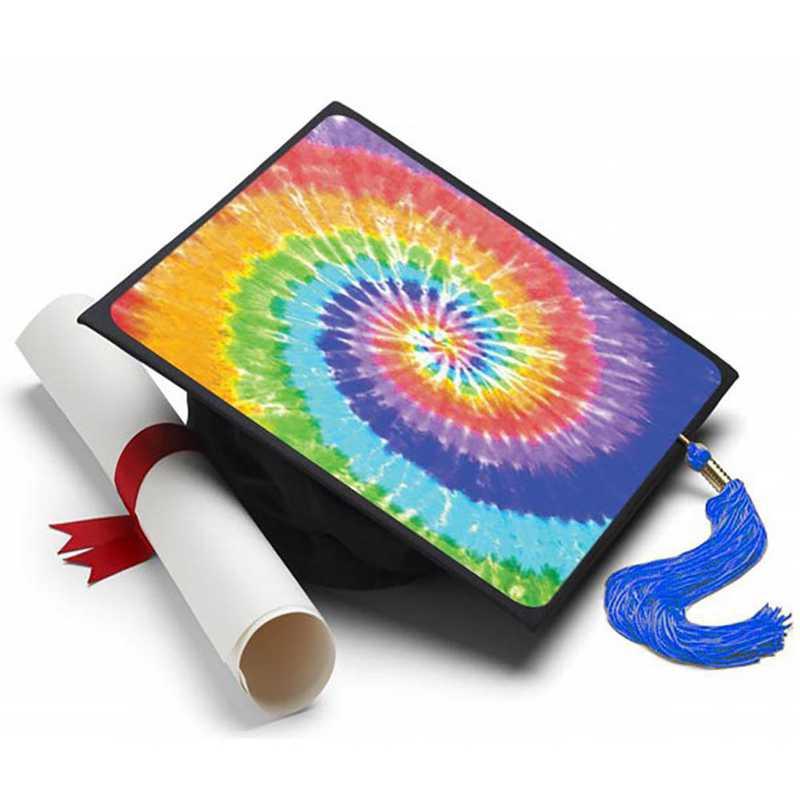 tiedye: Tie Dye Grad Cap Tassel Topper