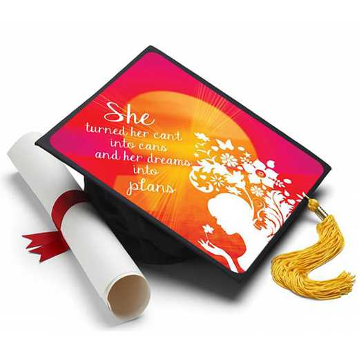 CAN101: Cant Into Cans Grad Cap Tassel Topper