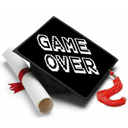 GAMEOVER: Game Over Grad Cap Tassel Topper