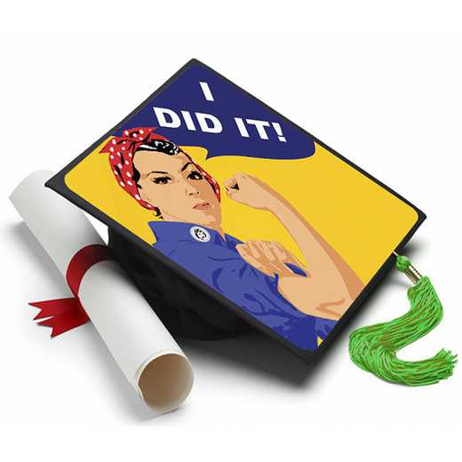 IDIDITWOMAN: I Did It Grad Cap Tassel Topper