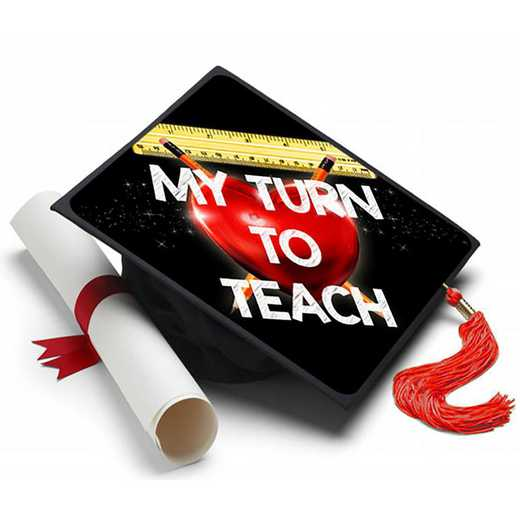 TURNTOTEACH: My Turn to Teach Grad Cap Tassel Topper