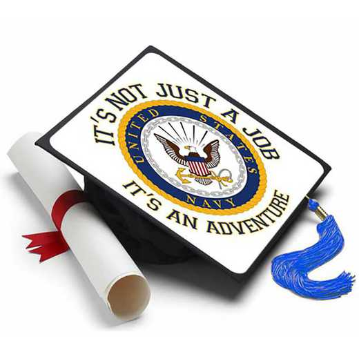 navyjob: Navy - Not Just A Job Grad Cap Tassel Topper