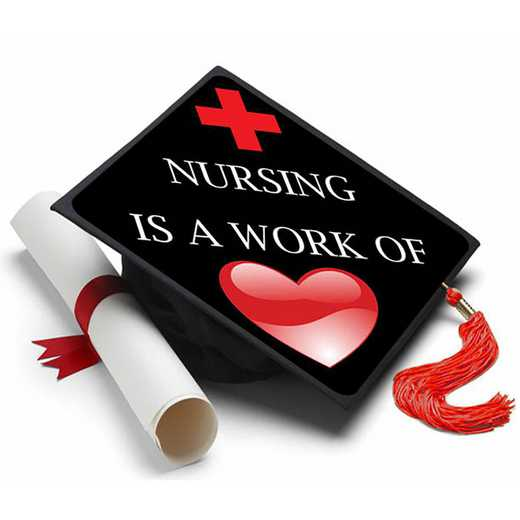 NURSINGHEART: Nursing is a Work of Heart Grad Cap Tassel Topper