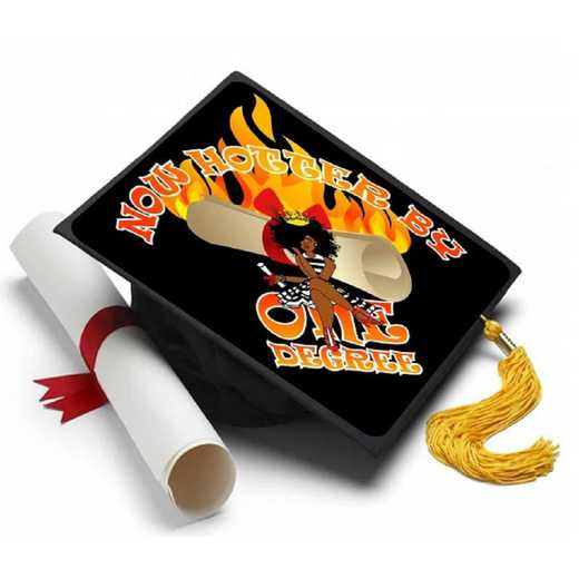 REDHOTTER: One Degree Hotter Grad Cap Tassel Topper