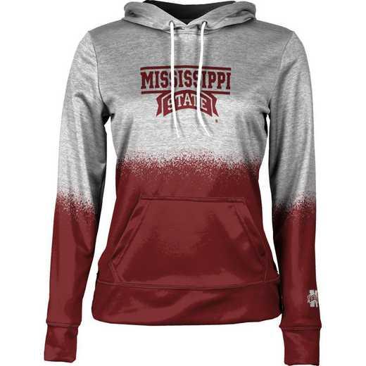 Mississippi State University Women's Pullover Hoodie, School Spirit Sweatshirt (Spray)