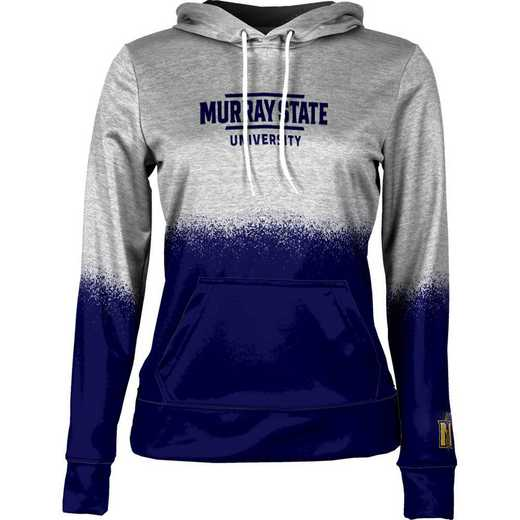 Murray State University Women's Pullover Hoodie, School Spirit Sweatshirt (Spray)
