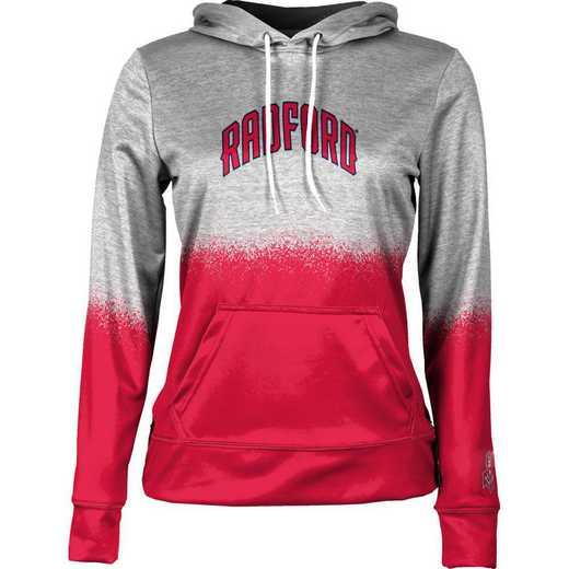 Radford University Women's Pullover Hoodie, School Spirit Sweatshirt (Spray)