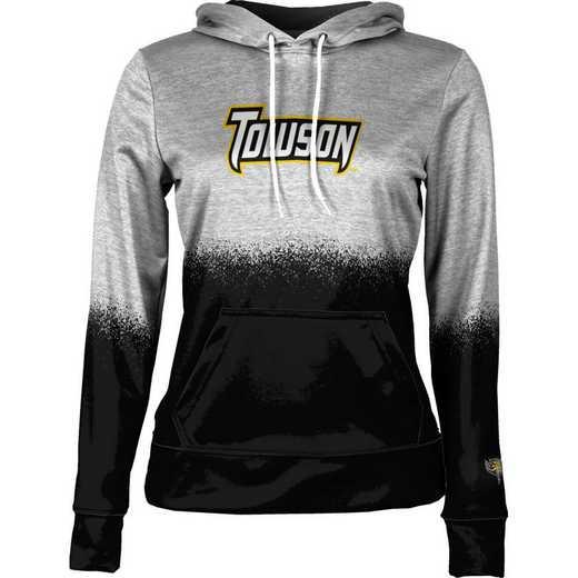 Towson University Women's Pullover Hoodie, School Spirit Sweatshirt (Spray)
