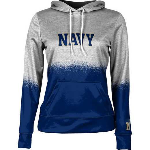 United States Naval Academy Women's Pullover Hoodie, School Spirit Sweatshirt (Spray)