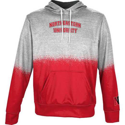 Northeastern University Boys' Pullover Hoodie, School Spirit Sweatshirt (Spray)