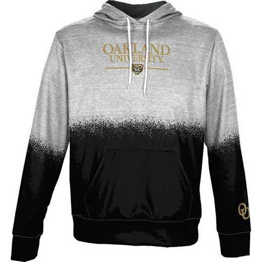 Oakland University Boys' Pullover Hoodie, School Spirit Sweatshirt (Spray)