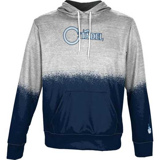 The Citadel College Boys' Pullover Hoodie, School Spirit Sweatshirt (Spray)