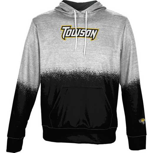 Towson University Boys' Pullover Hoodie, School Spirit Sweatshirt (Spray)