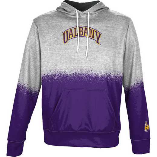 University at Albany Boys' Pullover Hoodie, School Spirit Sweatshirt (Spray)