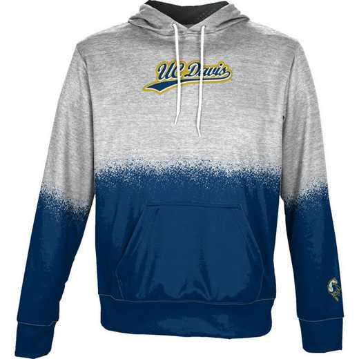 University of California Davis Boys' Pullover Hoodie, School Spirit Sweatshirt (Spray)