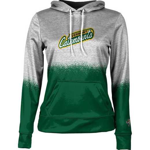 University of Vermont Women's Pullover Hoodie, School Spirit Sweatshirt (Spray)