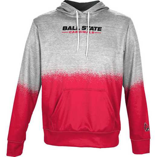 Ball State University Boys' Pullover Hoodie, School Spirit Sweatshirt (Spray)