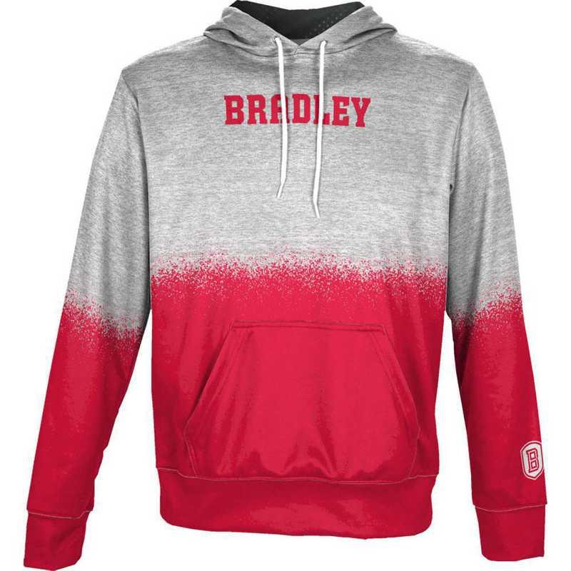 Bradley University Boys' Pullover Hoodie, School Spirit Sweatshirt (Spray)