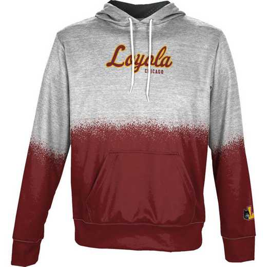 Loyola University Chicago Boys' Pullover Hoodie, School Spirit Sweatshirt (Spray)