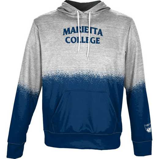 Marietta  Boys' Pullover Hoodie, School Spirit Sweatshirt (Spray)
