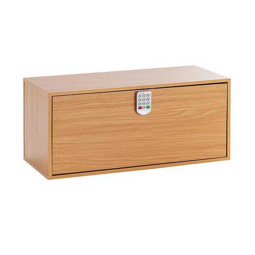 TRUNKLS-A17YAK-BCH: DormCo Yak About It Locking Safe Trunk - Beech