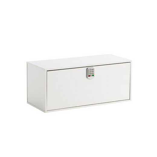 TRUNKLS-A17YAK-WHT : DormCo Yak About It Locking Safe Trunk - White