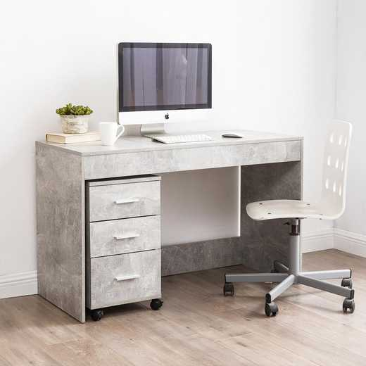 WDESK-J17YAK-GRAY: DormCo Yak About It Simple Style Dorm Work Desk- Marble Gray