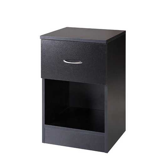 TSN-I17YAK-BLK: DormCo The Yak About It Standard Nightstand - Black