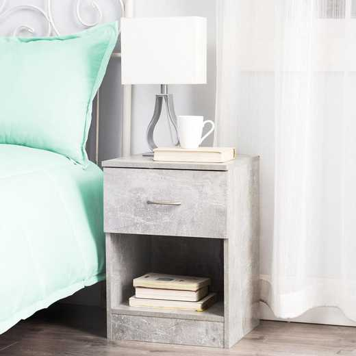 TSN-I17YAK-GRAY: DormCo The Yak About It Standard Nightstand - Marble Gray