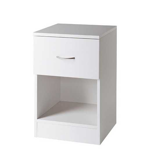 TSN-I17YAK-WHT: DormCo The Yak About It Standard Nightstand - White