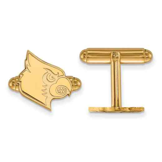 GP048UL: LogoArt NCAA Cufflinks - Louisville - Yellow