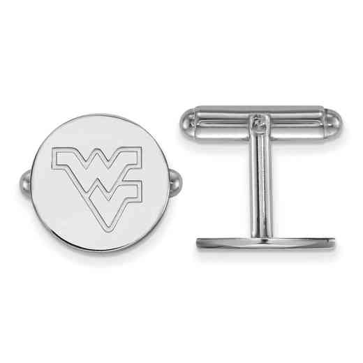 SS012WVU: LogoArt NCAA Cufflinks - West Virginia - White