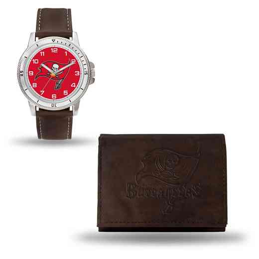 GC4875: Men's NFL Watch/Wallet Set - Tampa Bay Buccaneers - Brown