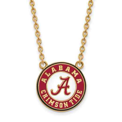 GP092UAL-18: LogoArt NCAA Enamel Pendant - Alabama - Yellow