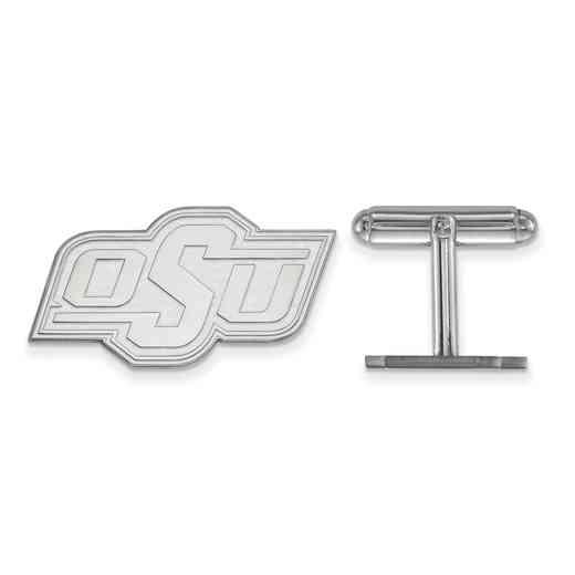 SS011OKS: LogoArt NCAA Cufflinks - Oklahoma State - White