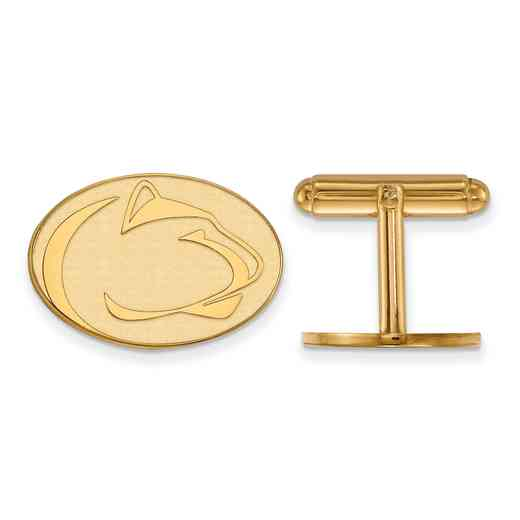 GP014PSU: LogoArt NCAA Cufflinks - Penn State - Yellow