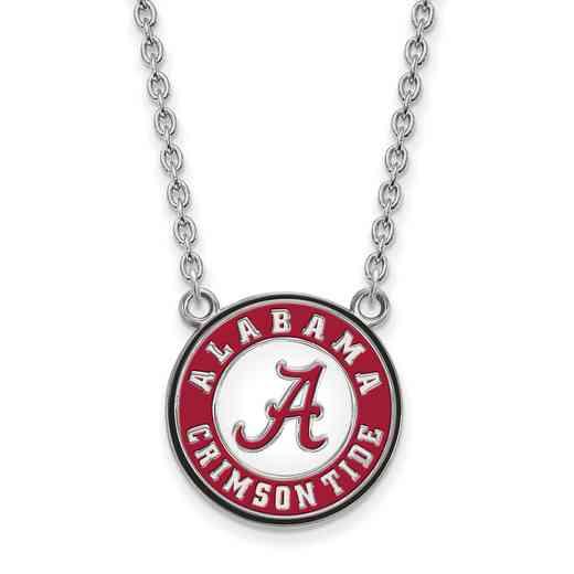 SS092UAL-18: LogoArt NCAA Enamel Pendant - Alabama - White