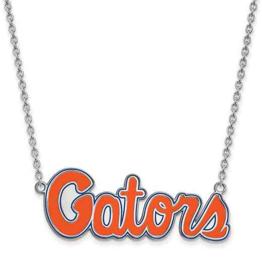 SS081UFL-18: LogoArt NCAA Enamel Pendant - Florida - White