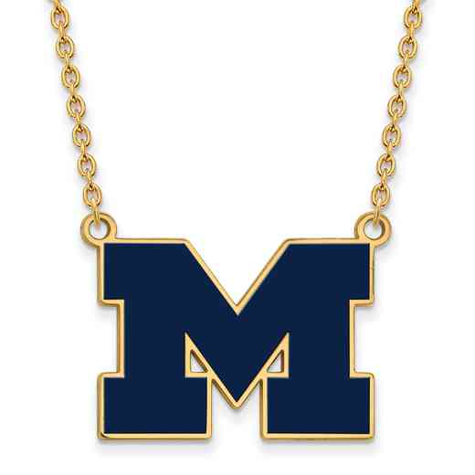 GP060UM-18: LogoArt NCAA Enamel Pendant - Michigan - Yellow