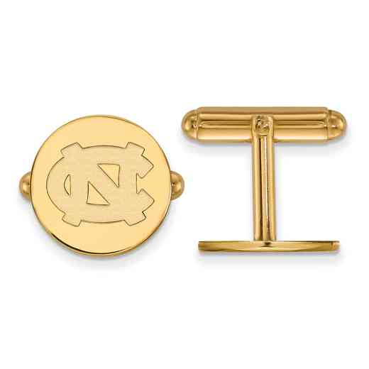 GP011UNC: LogoArt NCAA Cufflinks - UNC - Yellow