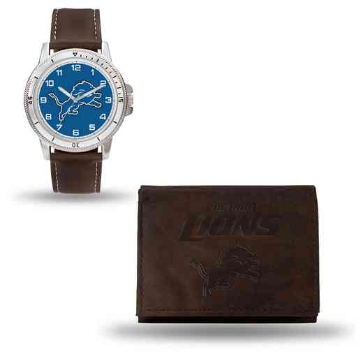 GC4856: Men's NFL Watch/Wallet Set - Detroit Lions - Brown