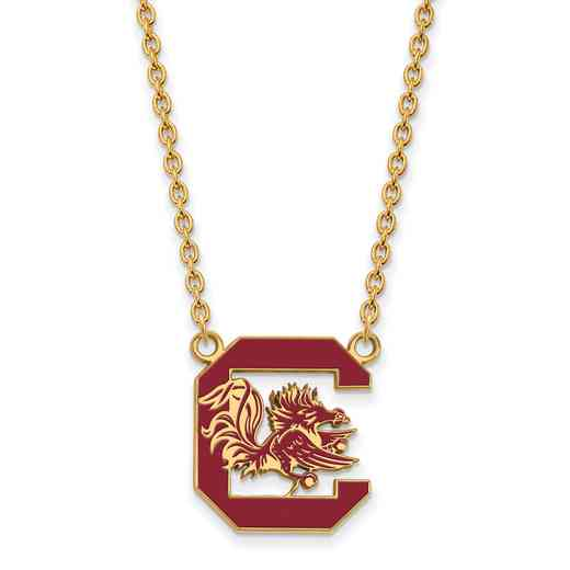 GP072USO-18: LogoArt NCAA Enamel Pendant - South Carolina - Yellow