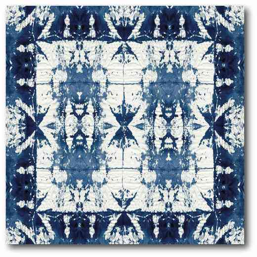 WEB-BN157: Tie Dye Navy III Canvas 16x16