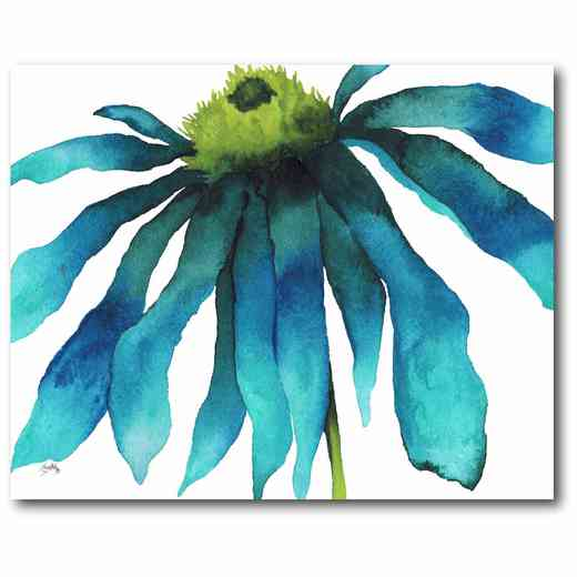 WEB-JV441: Large Teal Flower Canvas 16x20