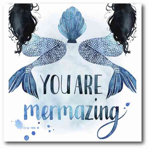 WEB-NI263: You Are Mermazing Canvas 16x16